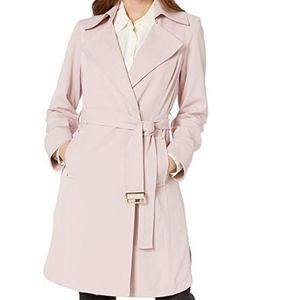 NEW Vince Camuto Group Trench Coat Dusty Pink